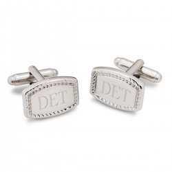 Beaded Rectangular Cufflinks