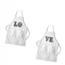 Personalized Love White Apron Set
