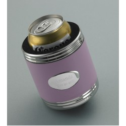 Personalized Pink Leather Can Cooler