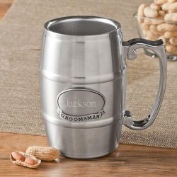 Personalized Tankard with Pewter Medallion